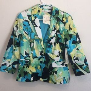 Boston Proper Abstract floral jacket